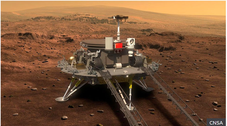 चीनको अन्तरिक्ष रोबोट मंगल ग्रहमा